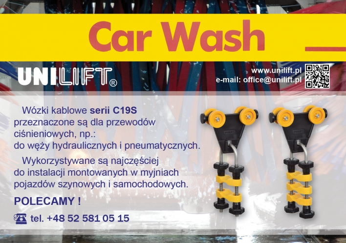 UNILIFT - cable trolleys for car washes