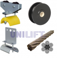 UNILIFT - KL - Accessories and instructions - steel rope track - flat cable