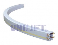 4 – pole insulated conductor rails UNILIFT-ULA (arc-shaped sections)