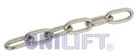 Stainless technical chain DIN 766