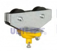 Cable trolleys with 2 rollers - 6-8 [mm] steel rope track - round cable
