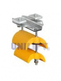 End clamp - SERIES C15P - for flat cables